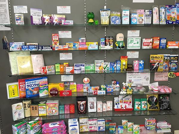一般用医薬品の陳列の状況を示す写真
